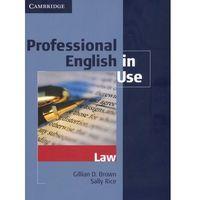 Professional English in Use Law (opr. miękka)
