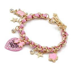 BRANSOLETKA PINK CHARMS JUICY - PINK