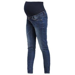 Mama Licious MLFREY Jeansy Slim fit dark blue denim
