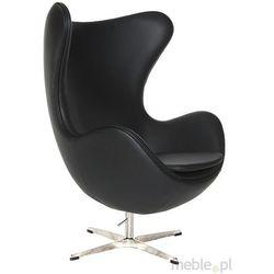 Fotel Jajo w czarnej skórze
