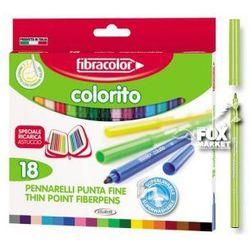 Flamastry pisaki mazaki FIBRACOLOR Colorito 18 kol