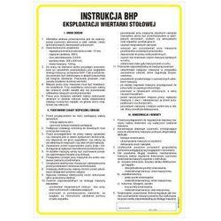 Instrukcja BHP eksploatacji wiertarki stołowej
