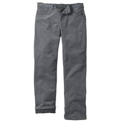 Spodnie sztruksowe ocieplane bonprix dymny szary
