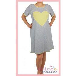 Koszula nocna ciążowa i do karmienia - Żółte Serce