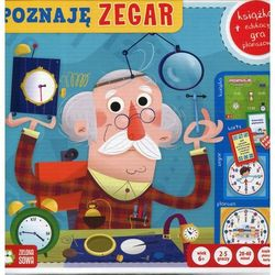 Poznaję zegar Książka + edukacyjna gra planszowa