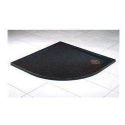 Brodzik z konglomeratu Sanswiss marblemate półokrągły 90x90 cm granit czarny WMR550900154