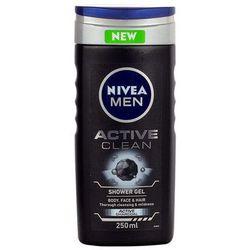 Nivea Men Active Clean Shower Gel 250ml M Żel pod prysznic
