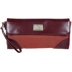 KOPERTÓWKA GUESS COLLECTION DAYLIGHT FLAP CLUTCH RED
