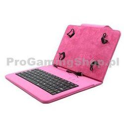 Akcja - Etui FlexGrip z klawiaturą na GoClever Orion 70, Różowy