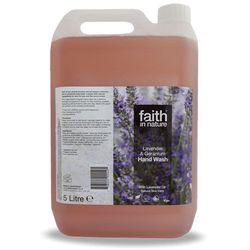Organiczny płyn do mycia rąk z lawendą i pelargonią, 5 litrów - Faith In Nature