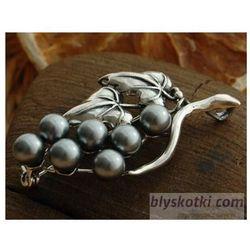 BOTANICA - srebrna broszka z perłami