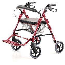 Podpórka rehabilitacyjna, 4 kołowa z podparciem nóg. Ułatwiająca chodzenie, poruszanie się osobom starszym - ROSE