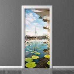 Fototapeta na drzwi lilie wodne w mieście P132