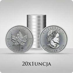 Kanadyjski Liść Klonowy 1 uncja srebra x 20