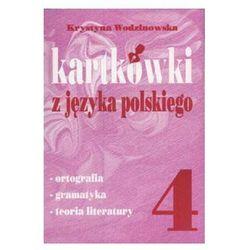 Kartkówki z języka polskiego. Klasa 4. Szkoła podstawowa (opr. miękka)