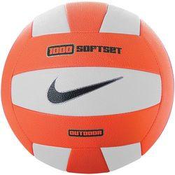 Nike piłka siatkowa 1000 Soft Set Outdoor Volleyball White/Total Orange Unisex - Gwarancja terminu lub 50 zł! - Bezpłatny odbiór osobisty: Wrocław, Warszawa, Katowice, Kraków
