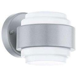Zewnętrzna LAMPA ścienna LAVORIA 94089 Eglo metalowa OPRAWA ogrodowa LED IP44 outdoor srebrny biały