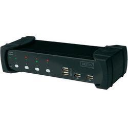 Przełącznik KVM DVI, Digitus DS-12840, USB, 1920 x 1200 px, Ilość przełączalnych PC: 4