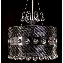 LAMPA wisząca FIORISIA LDP 0236-4 Lumina Deco metalowa OPRAWA kryształowy ŻYRANDOL crystal czarny