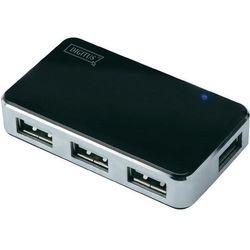 Hub USB 2.0 Digitus DA-70220, 4 x USB, czarny, zasilacz