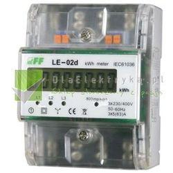 LE-02D LICZNIK ENERGII ELEKTRYCZNEJ - TRÓJFAZOWY, WYŚWIETLACZ LCD, KL.1, 3X230,400V, 3X5(63A) (LE-02D)
