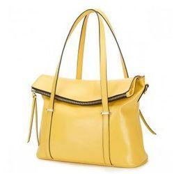 Duża torebka tote Żółta