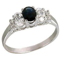 Srebrny pierścionek z szafirem R275s