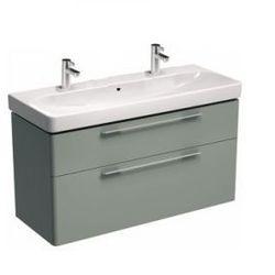 KOŁO szafka + umywalka z 2 otworami na baterie Traffic 120 platynowy połysk 89440+L91520