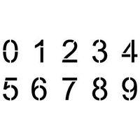Cyfry - ARIAL- zestaw 10 szablonów do malowania w różnych rozmiarach