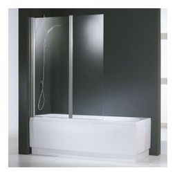 Parawan nawannowy Novellini Aurora 2 - 120x150 cm, profil srebrny, szkło przezroczyste AURORAN2-1B