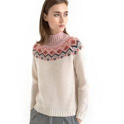 Żakardowy sweter