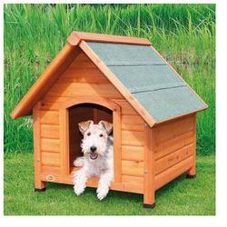 Naturalna buda dla psa ze spadzistym dachem Rozmiar:L