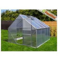 Szklarnia ogrodowa 250x190 - 4,75 m kw + fundament - szklarnie aluminium + poliwęglan UV od