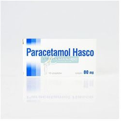 Paracetamol Hasco czop.doodbyt. 0,08 g 10 czop.