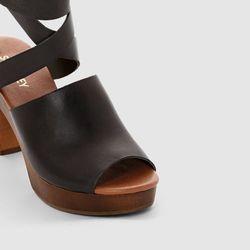 Skórzane sandały SOFT GREY