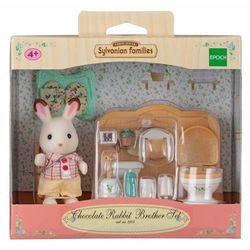 Sylvanian Families, łazienka i brat królików z czekoladowymi uszkami, zestaw z figurką Darmowa dostawa do sklepów SMYK