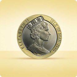 Złota moneta 1 pens