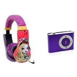 Słuchawki Dzieci Ever After High + Odtwarzacz MP3