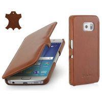 Skórzane etui z klapką StilGut UltraSlim Book - koniakowe (skóra gładka) - Samsung Galaxy S6