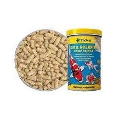 TROPICAL Koi & GoldFish Basic Sticks - pokarm w pałeczkach dla ryb stawowych worek 1l/90g