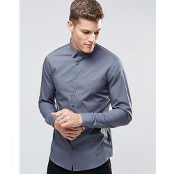 Calvin Klein Skinny Smart Shirt With Stretch - Grey