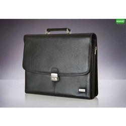 Skórzana męska aktówka, torba na laptop Verso Business Classique II