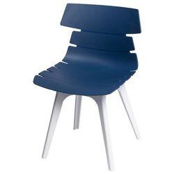 Krzesło Techno z białą podstawą - niebieski