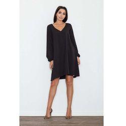 fd15c38a57 suknie sukienki sukienka trapezowa modern line z ozdobna siateczka ...