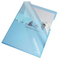 Ofertówka krystaliczna L Esselte A4/25szt.,150mic.-niebieska