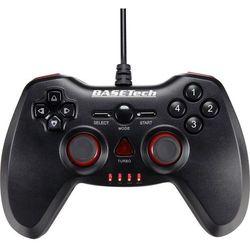 Gamepad PC Basetech, USB, Komunikacja: Przewodowa, Czarny, Czerwony