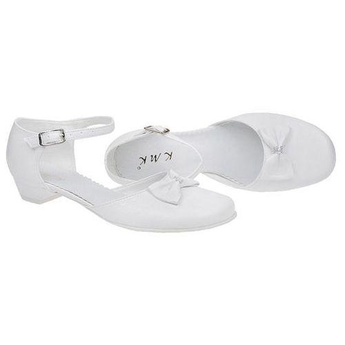 d6383acb Pantofelki buty komunijne dla dziewczynki KMK 163 Białe - Biały ...