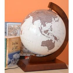 Globus antyczny 32 cm podświetlany Zachem