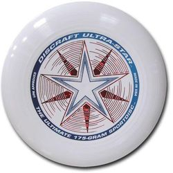 Dysk Discraft ULTRA-STAR 175g. Biały Ultimate Frisbee