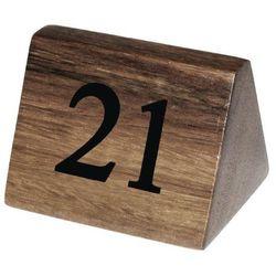 Drewniane numerki na stoły   21-30   35x35x(H)55mm